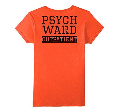 Ward Costume (Womens Psych Ward Outpatient Halloween Inmate Costume Orange Shirt XL Orange)