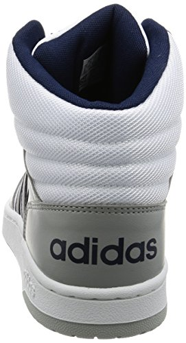 Adidas VS Hoops Mid, Baskets mode pour homme, Blanc – (Ftwbla/maruni/onicla) 44