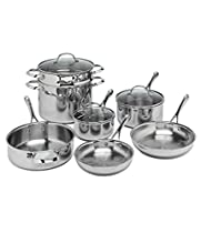 Tru Chef Triple Layer 10 Piece Stainless Steel Cookware Set