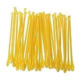 ULTECHNOVO ULTECHNOVO 50PCS Plastic lab Scoop Mini Laboratory Mixing spatulas (Yellow)