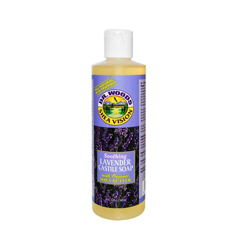 Dr. Woods Pure Castile Soap with Organic Shea Butter - Lavender - 8 - Soap Lavender Woods