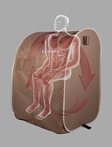 TCG Sauna Luxwell Dr. Cells Impulsive Far Infrared Temperature Control Negative Ion and Germanium Portable Detox Relax Sauna
