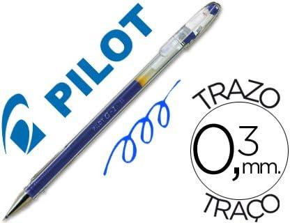Pilot - Boligrafo g-1 azul tinta gel (12 unidades): Amazon.es: Oficina y papelería