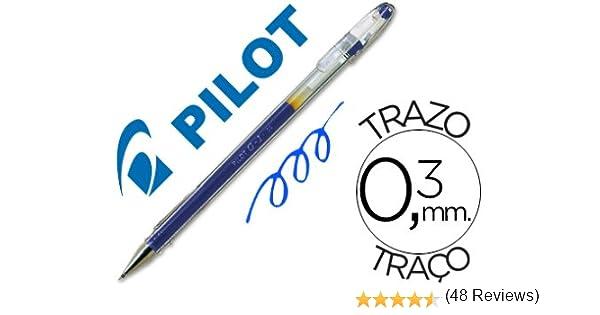 Pilot - Boligrafo g-1 azul tinta gel (12 unidades): Amazon.es ...