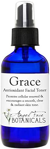 Grace Organic Antioxidant Facial Toner with Aloe Vera, Cranberry and White Tea - Speeds Cellular Renewal for Smooth Clear Skin