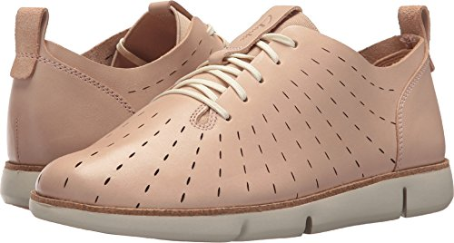 Clarks Leather Tie - CLARKS Womens Tri Etch Sneaker, Nude Pink Leather, Size 6.5