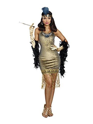 Costumes Prohibition Best (Dreamgirl Women's Golden Girl, Gold,)