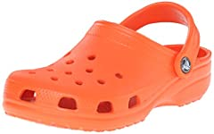 Original. Comfortable. Versatile. The iconic clog that started a comfort revolution around the world! The irreverent, go-to comfort shoe that you're sure to fall deeper in love with day after day. Crocs Classic Clogs feature lightweight Iconi...