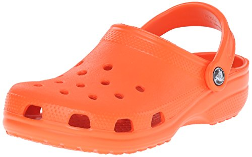 Crocs Men's and Women's Classic Clog, Comfort Slip On Casual Water Shoe, Lightweight, Tangerine, 7 US Women / 5 US Men
