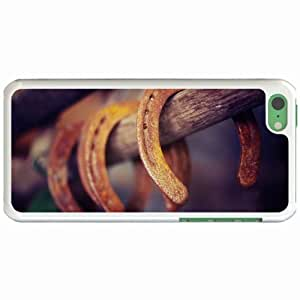 Apple iPhone 4/4s Cases Customized Gifts Horseshoe Stick White Hard PC Case