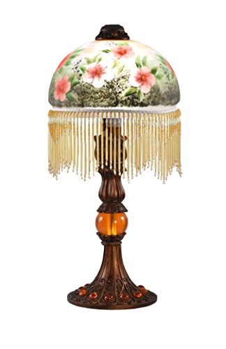 Dale Tiffany Lamps STT17113 Pansy Hand Painted Tiffany Table (Dale Tiffany Mission Floor Lamp)