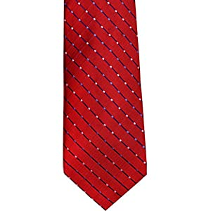 Geoffrey Beene Mens Silk Blend Classic Neck Tie Red O/S