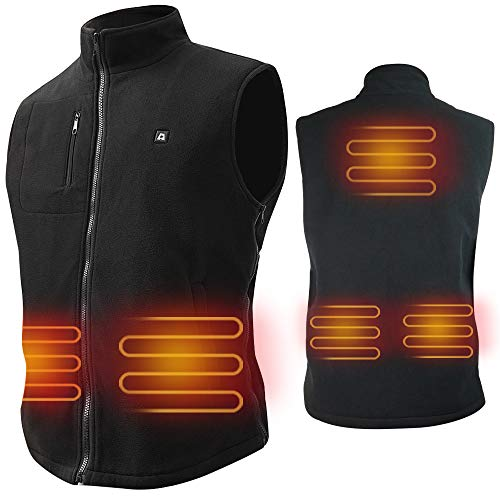 ARRIS Electric Heated Vest Size Adjustable 5V USB Warm Vest for Outdoor Camping Hiking (No Battery)