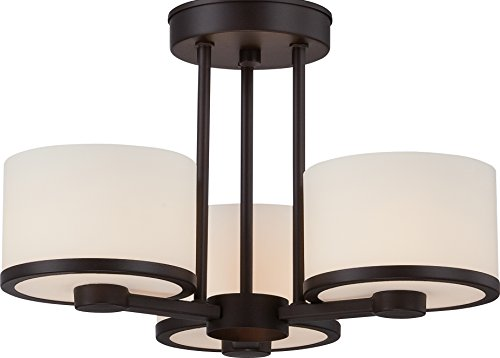 Nuvo Lighting 60/5577 Three Light Semi Flush Mount (3 Venetian Collections Light)