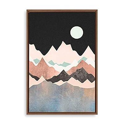 Framed Home Artwork Natural Landscape Golden Mo for...16