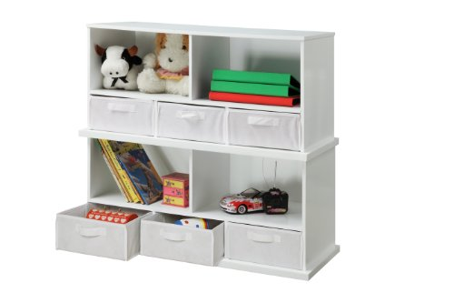 Badger Basket Shelf Storage Cubby with Three Baskets, White by Badger Basket (Image #5)