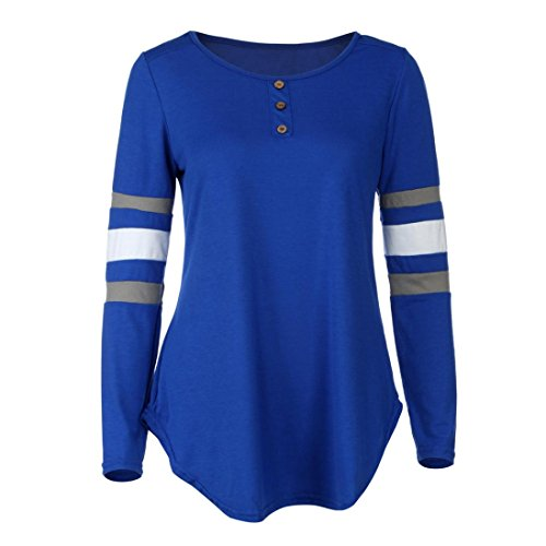 HUHU833 Blouse Femmes Hiver Casual Treillis d'épissage à col en O à manches longues mode Tops Sweater Tee-Shirt