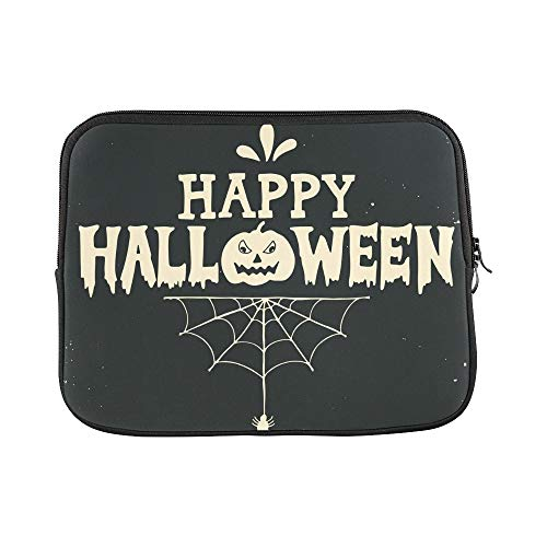 Design Custom Hand Drawn Happy Halloween Lettering Pumpkin Sleeve Soft Laptop Case Bag Pouch Skin for MacBook Air 11