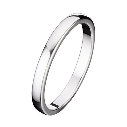 MJ 2mm Tungsten Carbide Classic Wedding Ring Polished Band Thin Size 4.5 by MJ Metals Jewelry (Image #2)