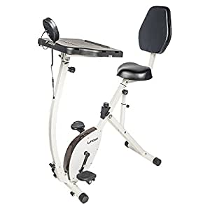 FitDesk Exercise Bike Recumbent Exercise Bike with Sliding Desk