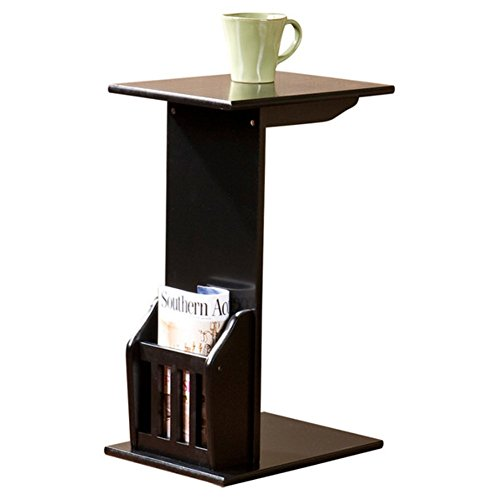 Charlton Home Bischoptree End Table, Modern End Table, Black