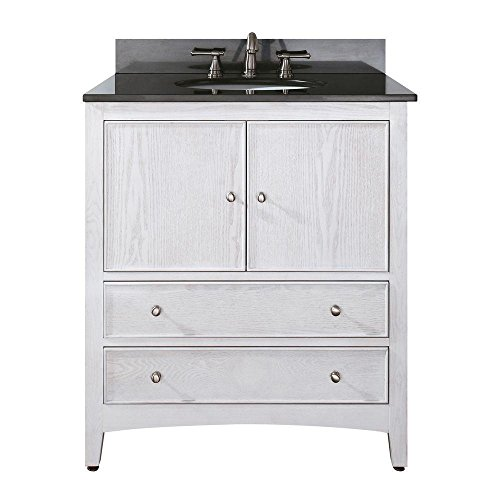 Price comparison product image Avanity Westwood 30 in. Vanity with Black Granite Top and Sink in White Washed finish