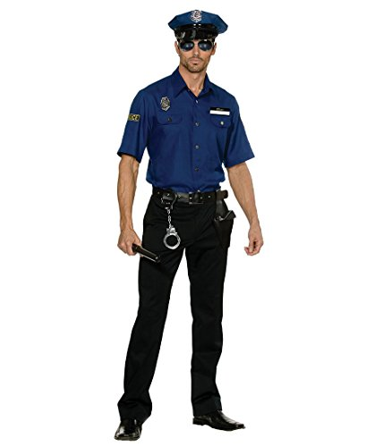 Busted Cop Costumes (Dreamgirl 5150 You'Re Busted! Policeman Cop Adult Costume - Medium - Blue)