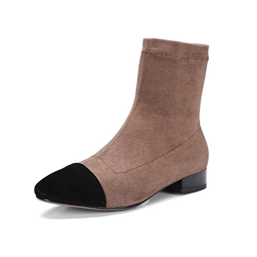 à et Bottes Chaussures brutes Courtes véritable Cuir khaki Femmes de en Cuir Automne Couture en Marche Dames Hiver Mode Bas Bottes Plates BOTXV Talons wxqzXfwP