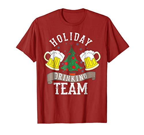 Holiday Drinking Team Shirt | Alcohol Lovers Funny Beer Gift (Light Team T-shirt Drinking)