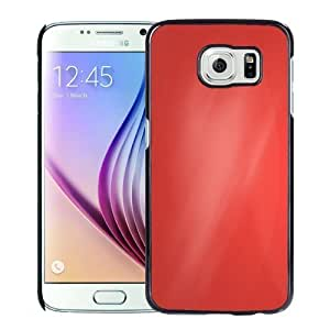 NEW Unique Custom Designed Samsung Galaxy S6 Phone Case With Simple Red Angled Gradient_Black Phone Case