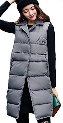 匿名細胞端末(ケイミ)KEIMI レディース ロング ダウン ベスト ジャケット ミリタリーノースリーブ ブルゾン アウター 着痩せ中綿ベスト ロング丈 膝丈冬物 3色軽量