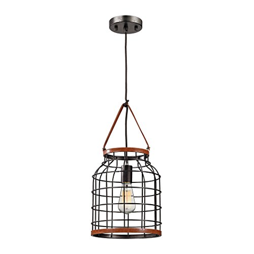 Price comparison product image Alumbrada Collection Purcell 1 Light Pendant In Weathered Iron