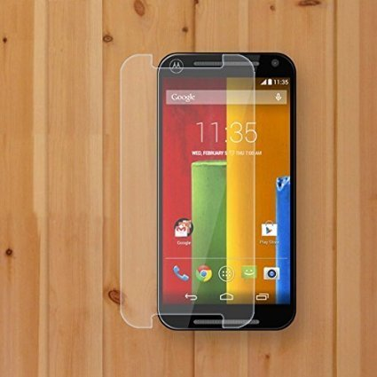 Moto G2 (2nd Generation) Tempered Glass plus Mobilia USB Data Cable & OTG Cable