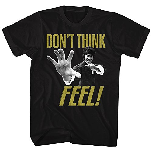 American Classics Bruce Lee Chinese Martial Arts Icon Don't Think Feel Adult T-Shirt Tee 3XT