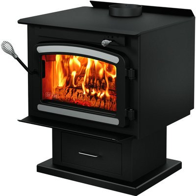 Drolet Classic Wood Stove with Blower - 75,000 BTU, EPA-Certified ...