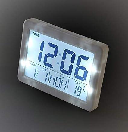 SoytichReloj despertador digital con pantalla LCD ...