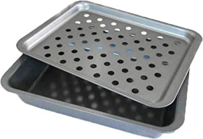 2-Piece Broiler Pan Small Toaster Oven Range Stove Rack- Kitchen Tools & Gadgets