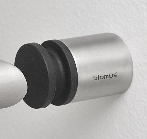 Argent//Noir Blomus 65353 But/ée de Porte Entra 4cm Acier Inoxydable 25 x 0,4 cm