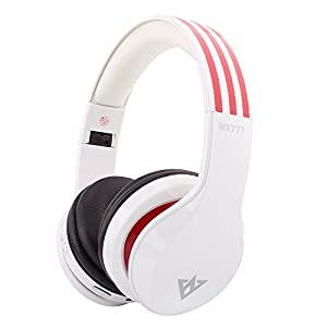 OVLENG MX777 Over-ear Headband Wireless Stereo Bluetooth 4.0+EDR Headphone Foldable FM/SD Built-in Microphone for PC Laptop,Mobile Phone (White)