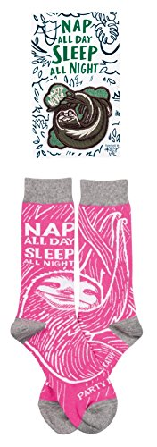 Nap All Day, Sleep All Night - Party Never Patch and Socks Gift Set Bundle