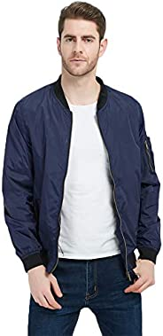 MADHERO Mens Bomber Jacket Lightweight Spring Fall Thin Casual Outwear