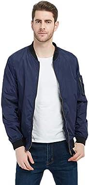 MADHERO Men's Bomber Jacket Lightweight Outerwear Casual Camo Ja