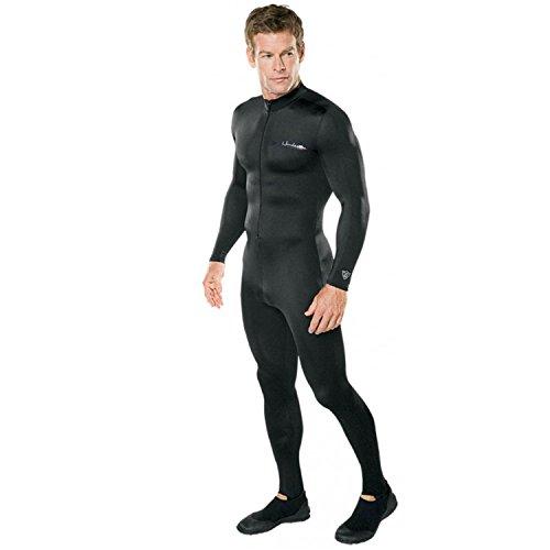 Henderson Lycra Printed Unisex Adults Jumpsuit Scuba Diving Wetsuit-Black-XXXLarge (Dive Skin)