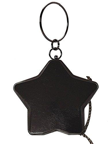 Chain QZUnique Black Metal Handle Shape Cell Phone Cell Phone Top Round Women's Bag Handbag Star Pouch 41rx0q4