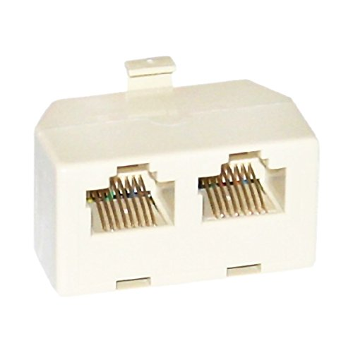 C&E CNE35496 Phone Splitter (Straight), RJ45 8P8C Male to 2 RJ45 8P8C Female 8p8c Phone