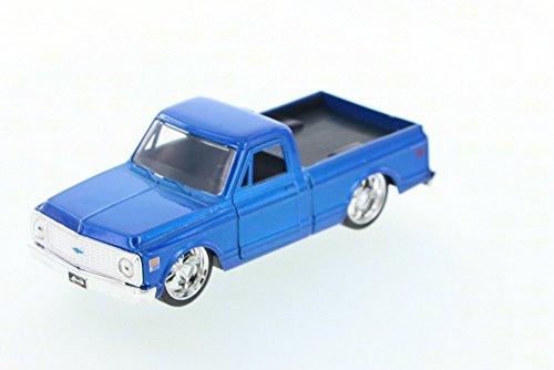 Cheyenne Pickup (1972 Chevy Cheyenne Pickup Truck, Blue - Jada Toys Just Trucks 97009 - 1/32 scale Diecast Model Toy Car)
