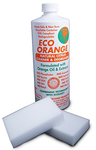 Eco Orange 32-Ounce Concentrate. Strongest All-Natural, All-Purpose Orange-Based Cleaner. Makes 3-4 GALLONS after dilution. Non-Toxic, Allergy-Free, Eco-Friendly. Safe for Family and Pets. - Orange Floor Cleaner