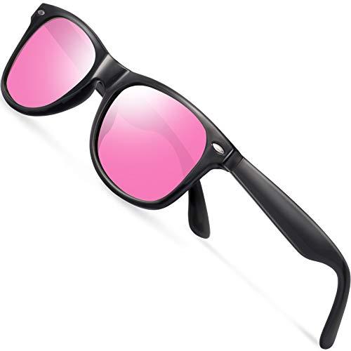 Polarized Sunglasses for Men Retro - FEIDU Polarized Retro Sunglasses for Men FD2149 (pink)]()