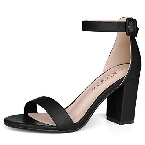 Allegra K Women Open Toe High Chunky Heel Ankle Strap Sandals