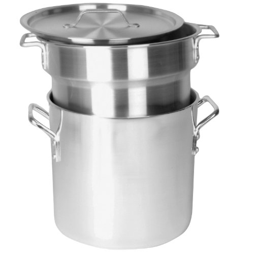 Excellante 8 Quart Aluminum Heavy Gauge Double Boiler Satin Finish